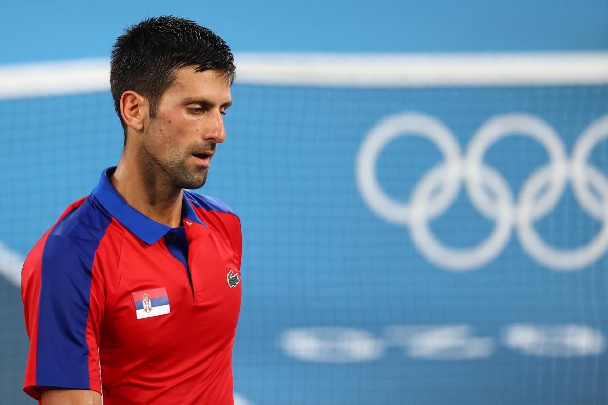 Djokovic thất bại ở bán kết đơn nam môn quần vợt Olympic Tokyo 2020. (Ảnh: Getty).