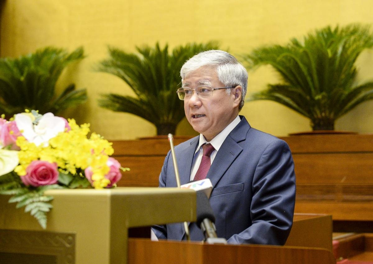 Chủ tịch Uỷ ban Trung ương Mặt trận Tổ quốc Việt Nam Đỗ Văn Chiến.