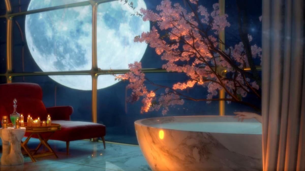 Những tấm kính có thể mờ đi và tạo thành những khung cảnh độc đáo, như các mùa trong năm hay ánh trăng trong đêm. Nguồn: Thierry Gaugain