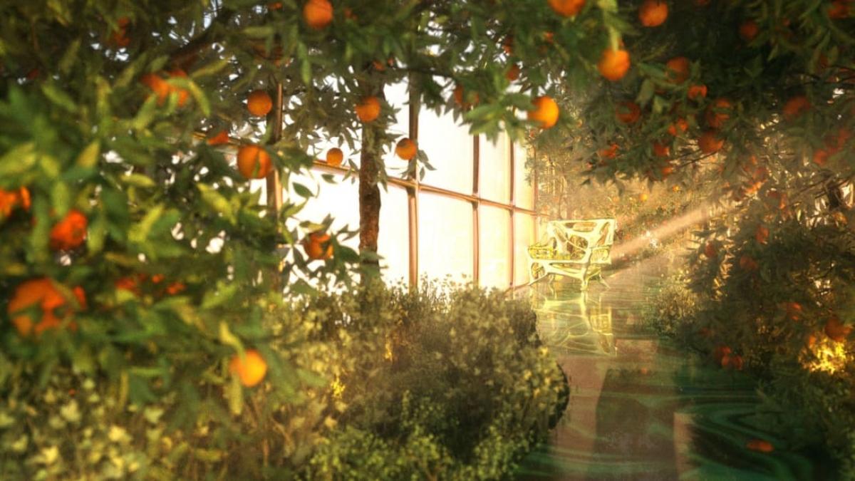 """Được mệnh danh là """"cung điện trên đường ray"""", đoàn tàu G Train bao gồm cả một vườn cây. Nguồn: Thierry Gaugain"""