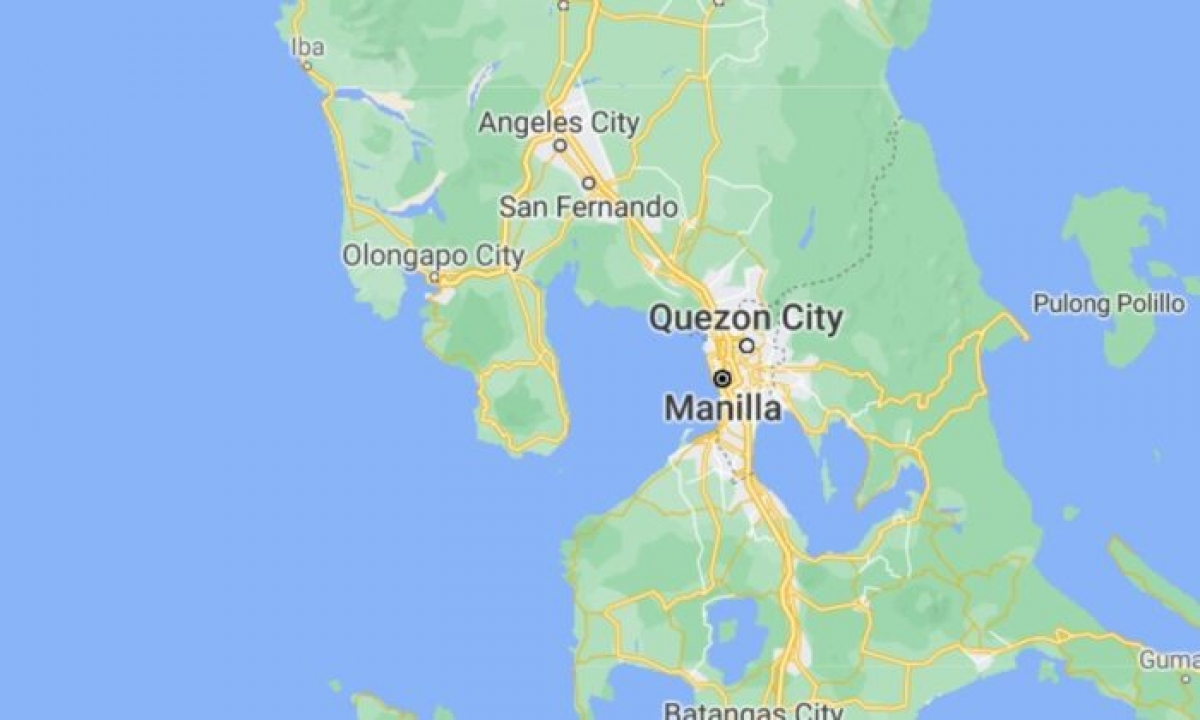 Động đất mạnh 6,7 độ gần thủ đô Manila của Philippines. Ảnh: Google Map