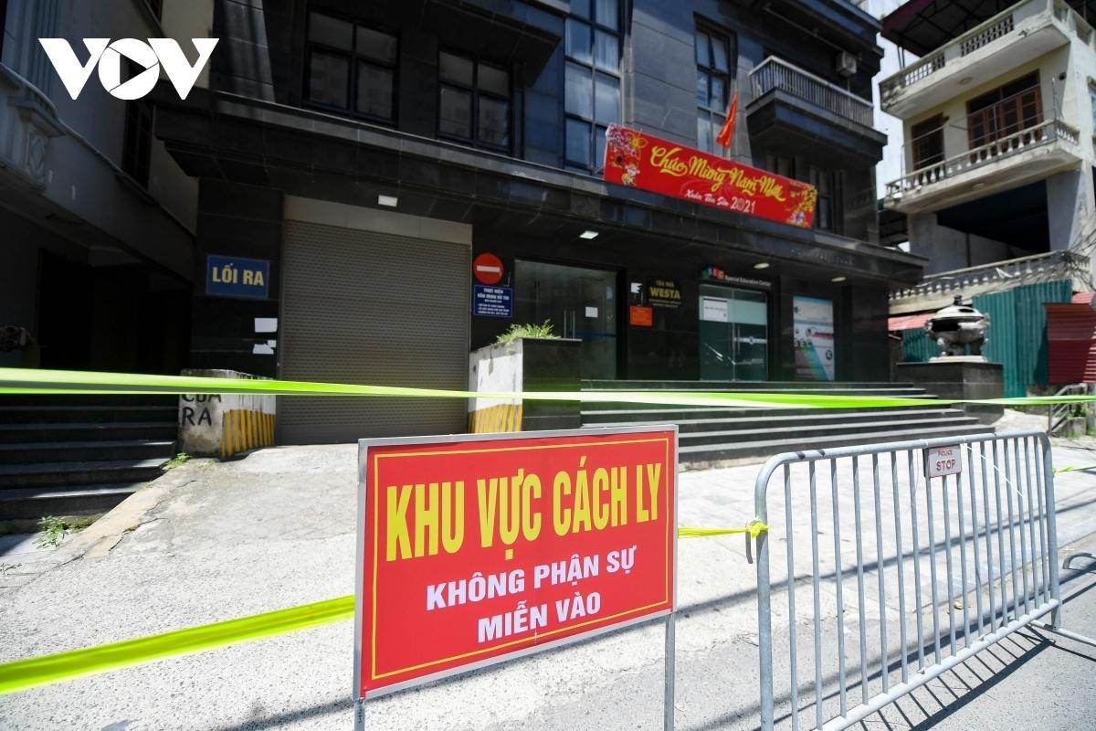 Một điểm phong tỏa tại Hà Nội