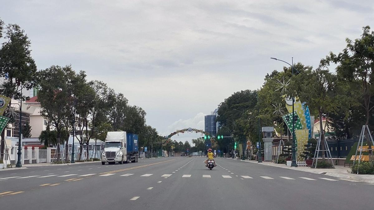 Đường phố Tây Ninh thông thoáng (Ảnh: Thắm Nguyễn)