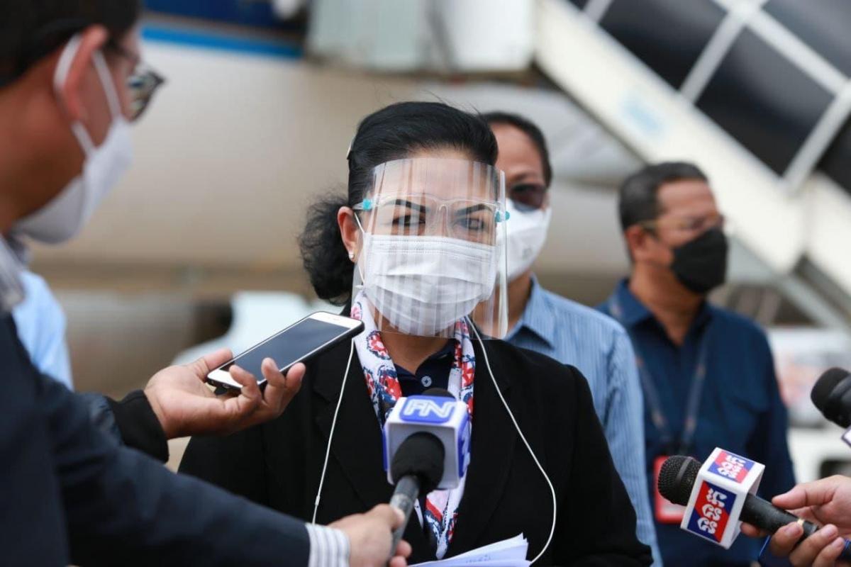 Quốc vụ khanh Bộ Y tếCampuchia Yuok Sambath. Ảnh: fresh news.