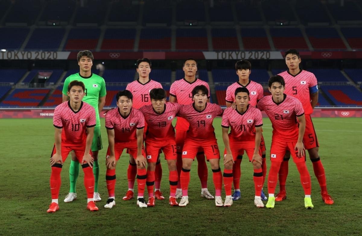 Đội hình ra sân của Hàn Quốc. (Ảnh: Getty)