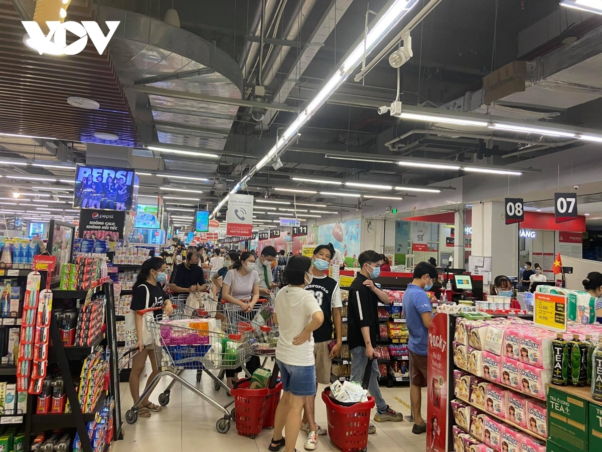 People mainly purchase essential goods such as fresh and dried food, pork, processed seafood, toilet paper among others