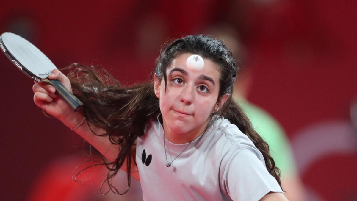 Hend Zaza là vận động viên trẻ nhất tranh tài ở Olympic Tokyo 2020 (Ảnh: Getty).