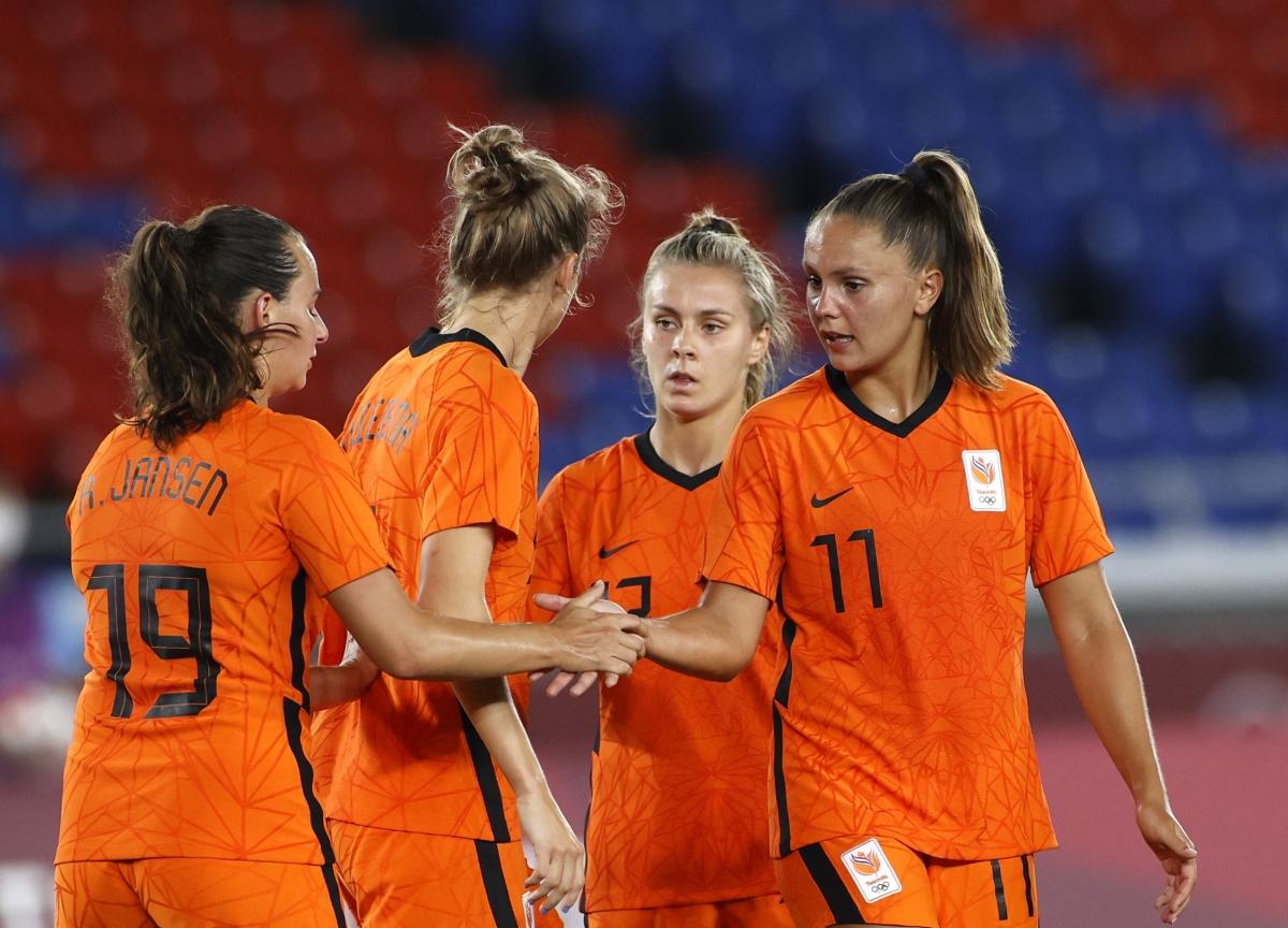 ĐT nữ Hà Lan sẽ có trận đấu tâm điểm với ĐT nữ Mỹ ở tứ kết Olympic Tokyo 2020. (Ảnh: Reuters).