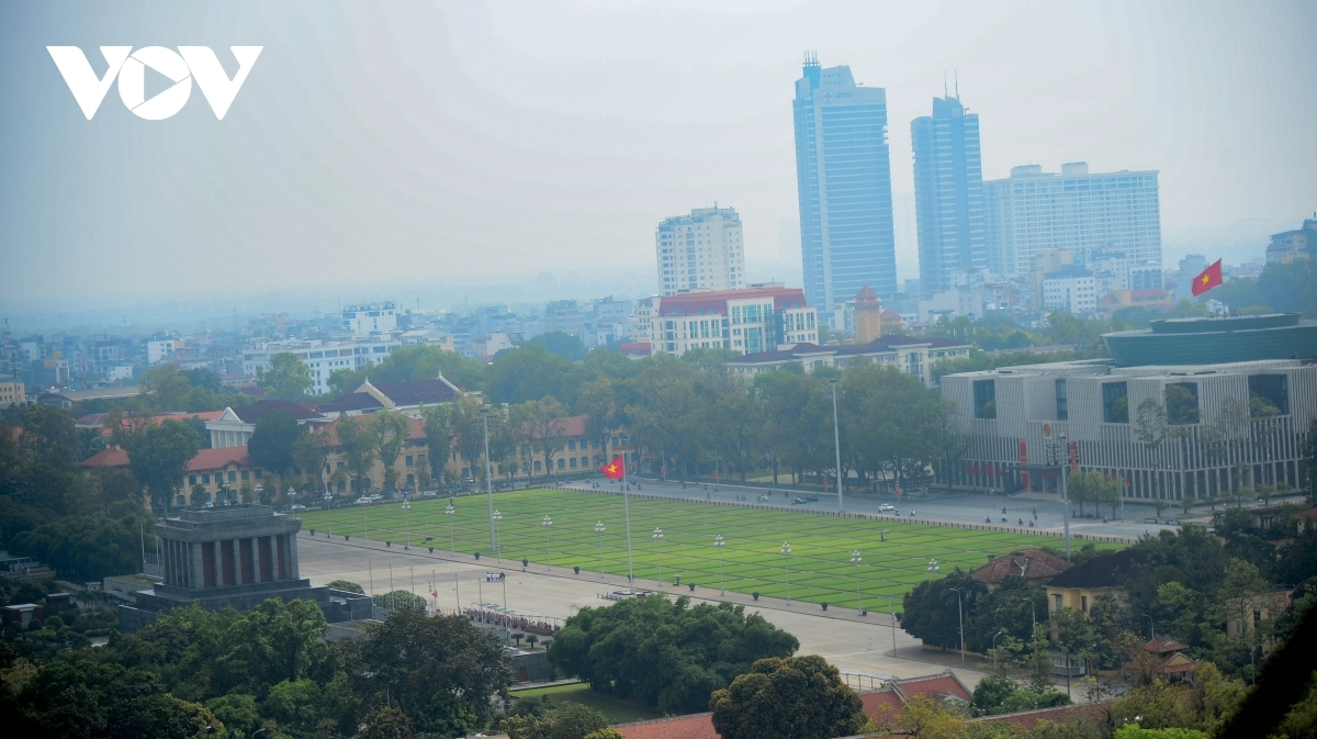Despite being one of Hanoi's leading tourist attractions, the area around Ho Chi Minh Mausoleum is empty.