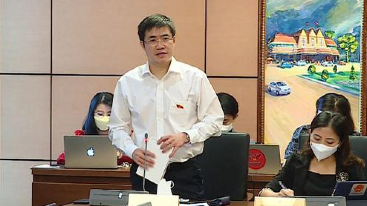 Đại biểu Hoàng Minh Hiếu trong một phiên thảo luận tổ