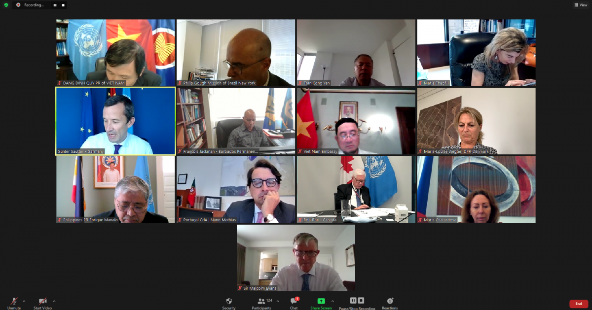 At the online meeting of UNCLOS Friends Group