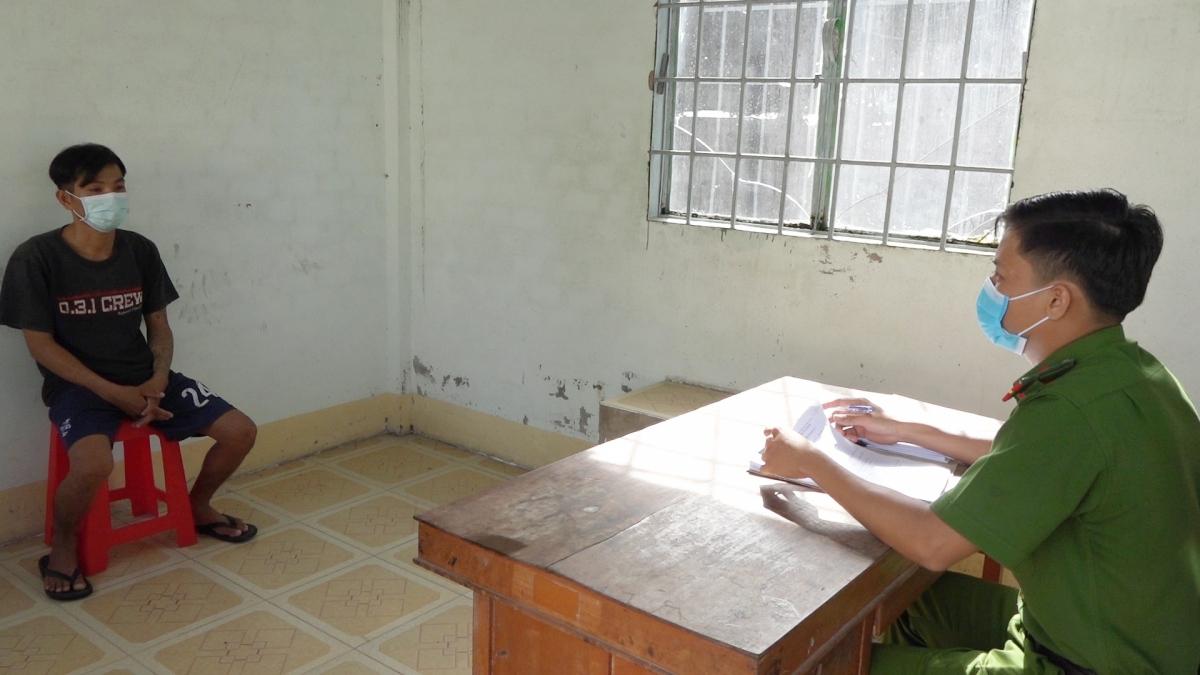 Đối tượng Nguyễn Quốc Nam tại cơ quan điều tra
