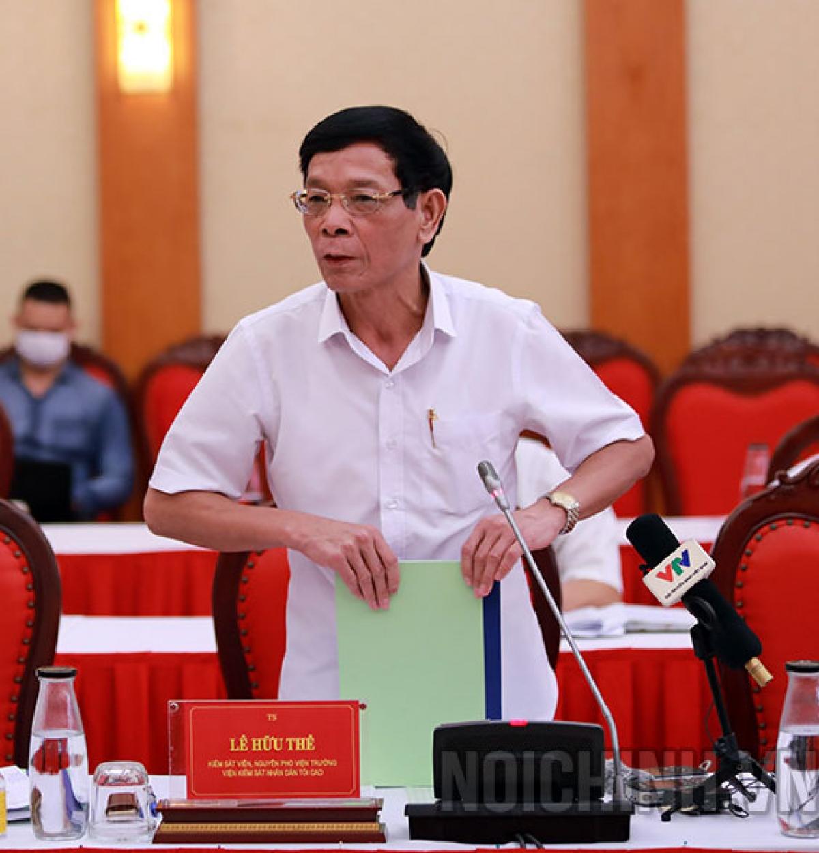 Ông Lê Hữu Thể, nguyên Phó Viện trưởng Viện kiểm sát nhân dân tối cao. (ảnh: Noichinh.vn)