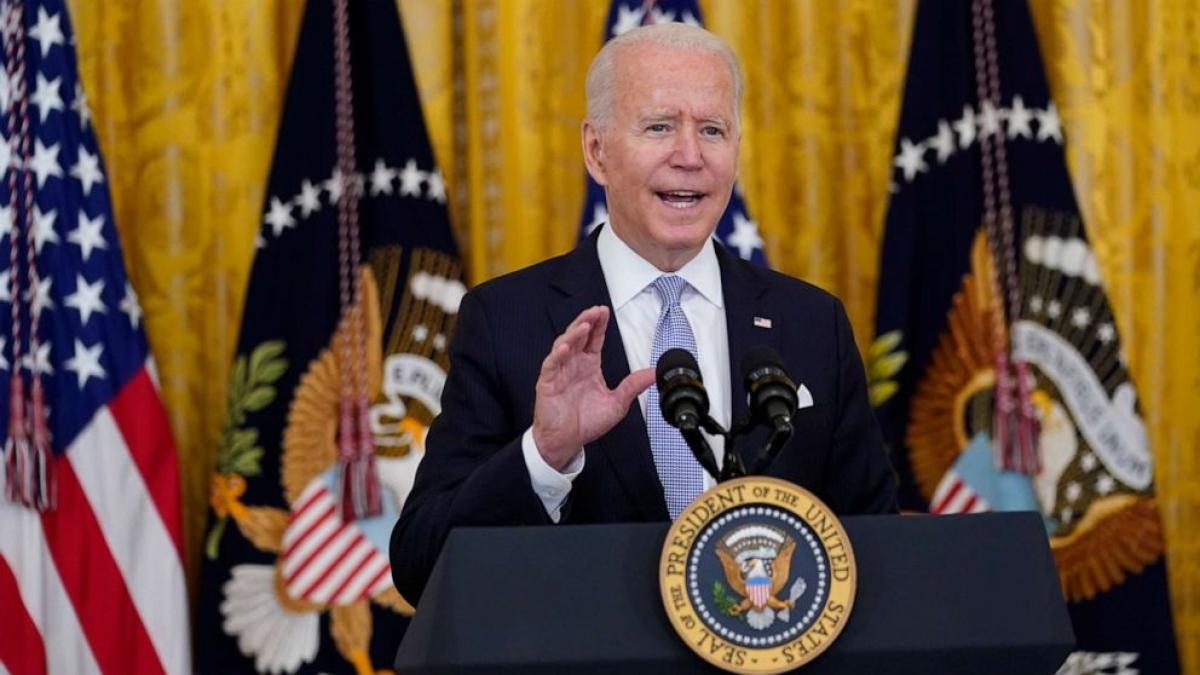 Tổng thống Mỹ Joe Biden họp báo tại Nhà Trắng ngày 29/7. Ảnh:ABC News