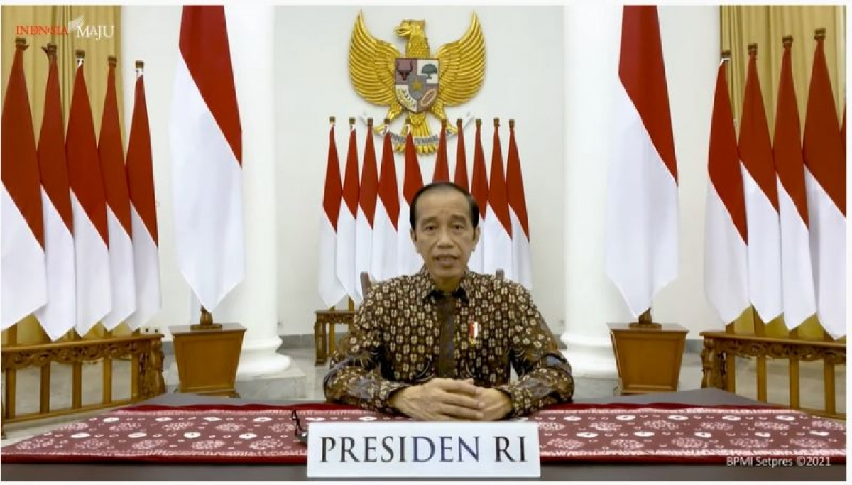 Tổng thống Indonesia, Joko Widodo thông báo kéo dài giới hạn khẩn cấp thêm 5 ngày(Nguồn : Ban thư ký Tổng thống)