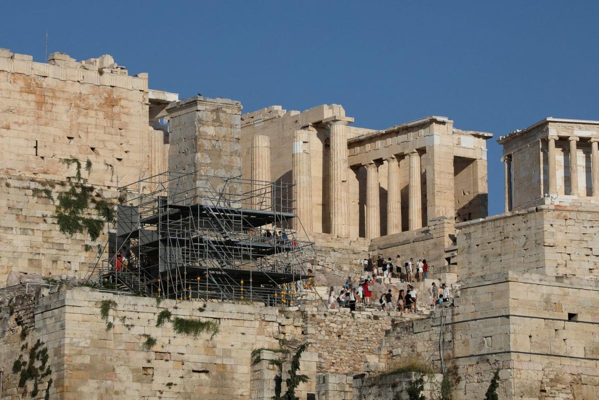 Du khách quốc tế đang gia tăng tại Hy Lạp. Ảnh chụp ngày 25/7/2021. Nguồn: Reuters