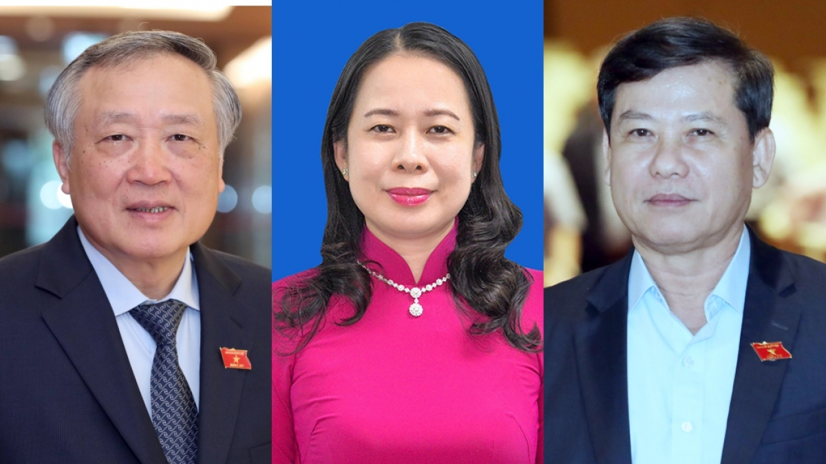 Nguyen Hoa Binh, Vo Thi Anh Xuan and Le Minh Tri (from left to right)