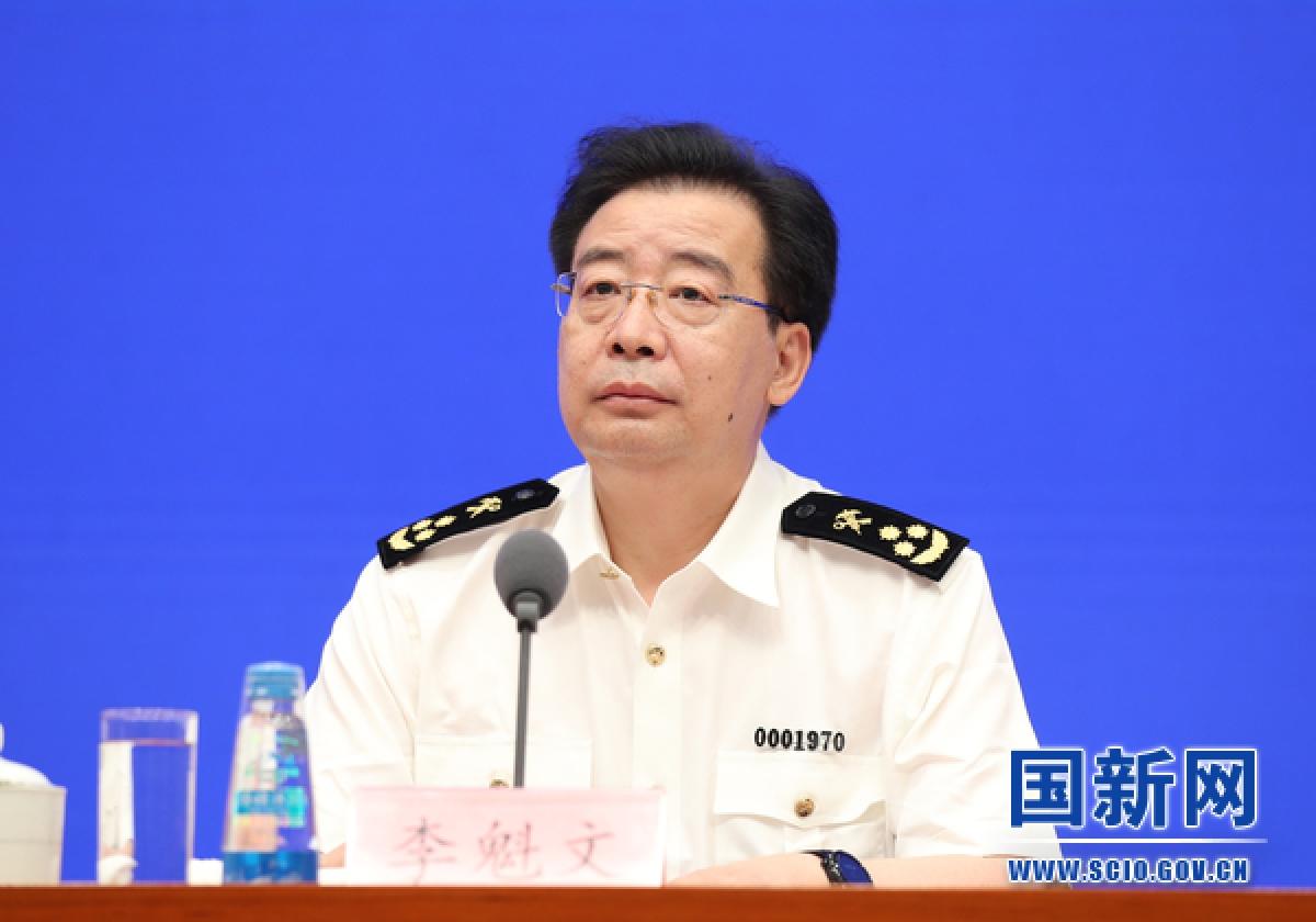 Ông Lý Khôi Văn, người phát ngôn Tổng cục Hải quan Trung Quốc - (Ảnh: SCIO)