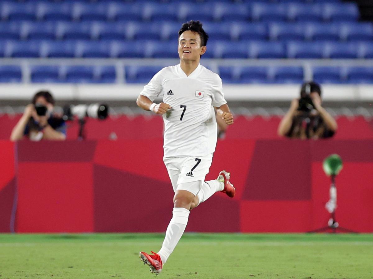 Phong độ cao của Kubo ở Olympic Tokyo chưa đủ thuyết phục Real Madrid giữ anh lại trong đội hình. (Ảnh: Reuters).