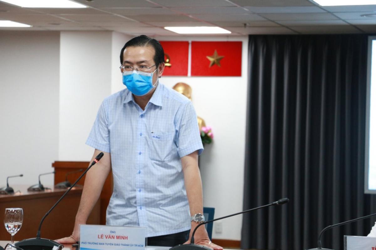 ÔngLê Văn Minh, Phó Trưởng ban thường trực Ban Tuyên giáo Thành ủy Thành phố Hồ Chí Minh. Ảnh: báo Người lao động.