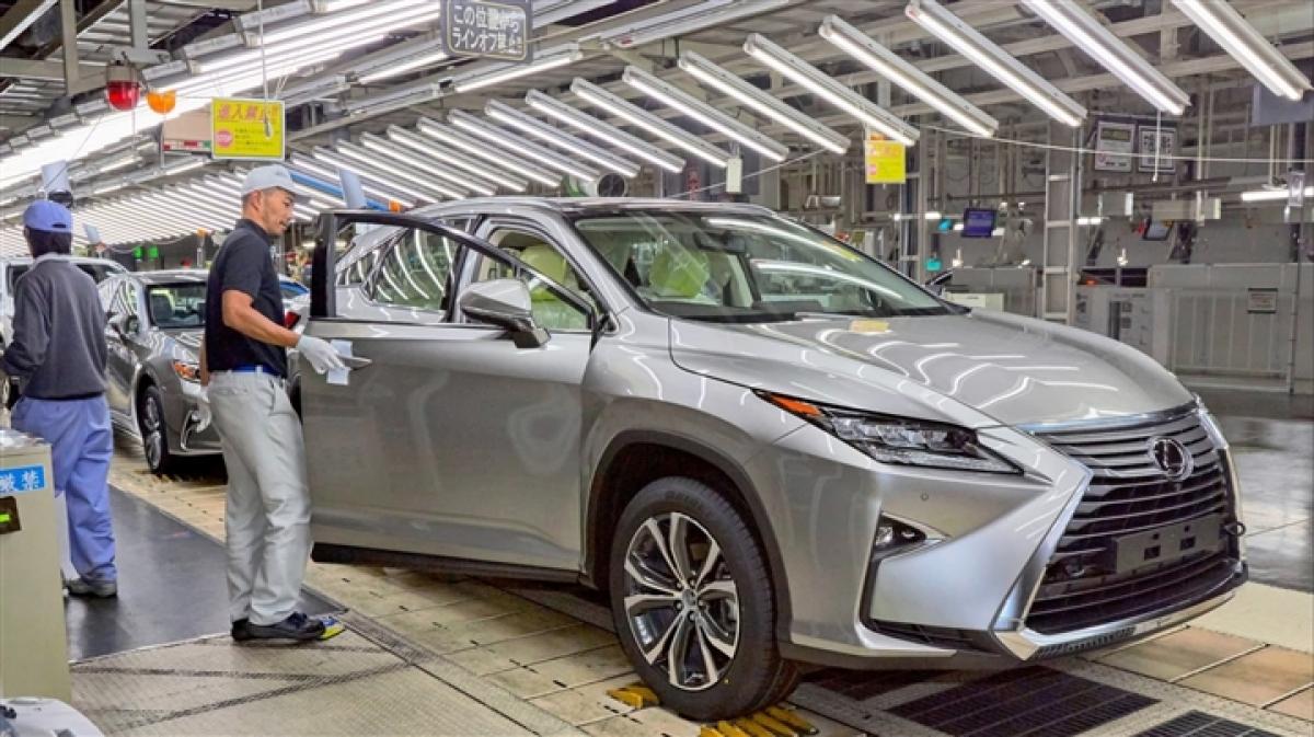 Một dây chuyền sản xuất xe Lexus của Toyota. (Ảnh: Shigeru Aoki)
