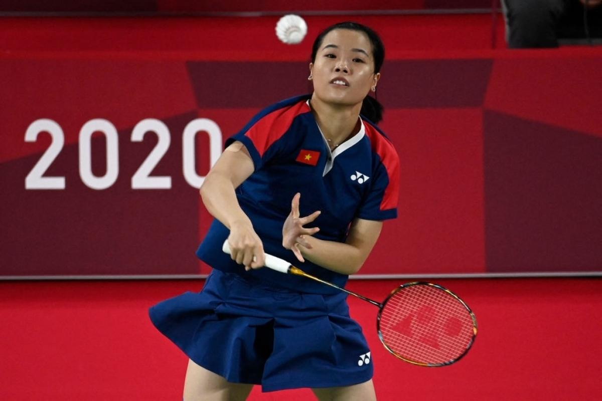 Thùy Linh là VĐV cầu lông nữ đầu tiên của Việt Nam thắng 2 trận ở 1 kỳ Olympic. (Ảnh: Getty).