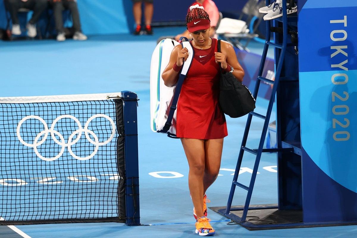 Naomi Osaka bất ngờ bị loại ở Olympic Tokyo. (Ảnh: Getty)