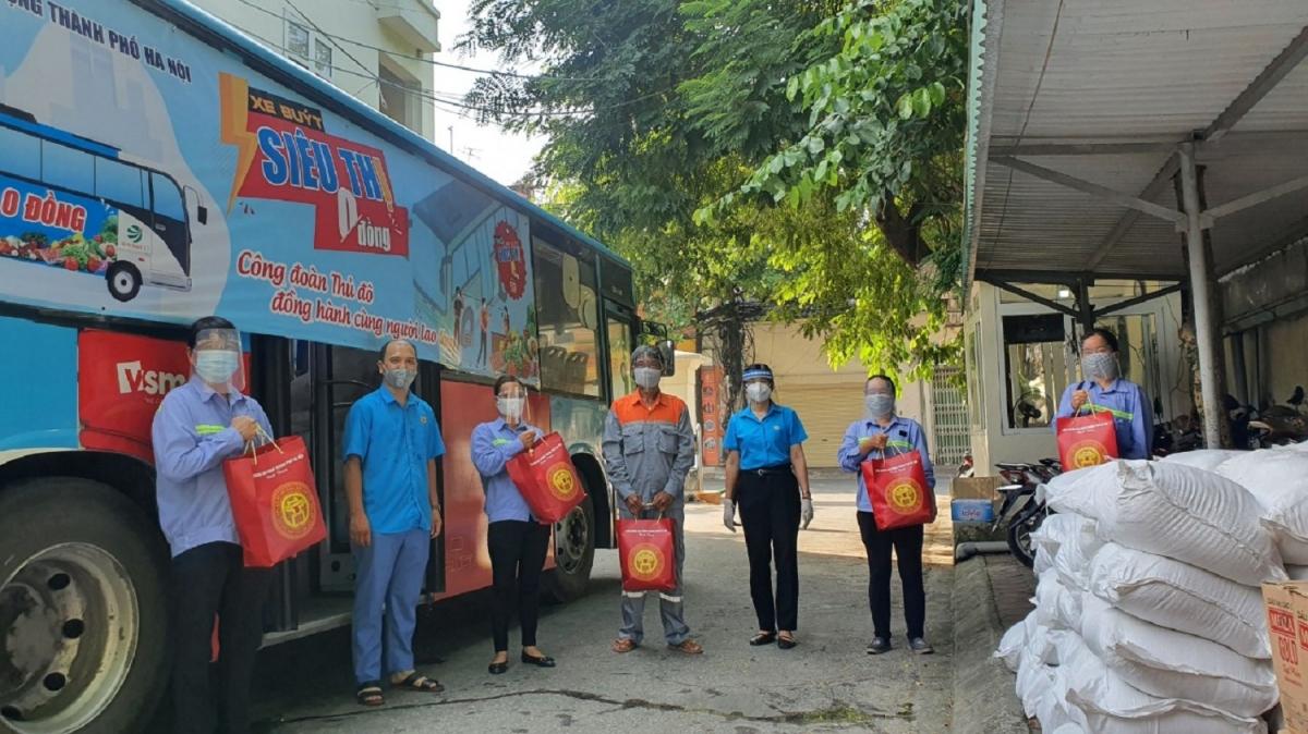 Sáng 28/7, chuyến xe 0 đồngđã chở hàng hóa tới hỗ trợ 700 công nhân lao động bị ảnh hưởng bởi dịch bệnh Covid-19 thuộc ngành Giao thông vận tải Hà Nội và một số doanh nghiệp tại Cụm Công nghiệp Hà Bình Phương (huyện Thường Tín).