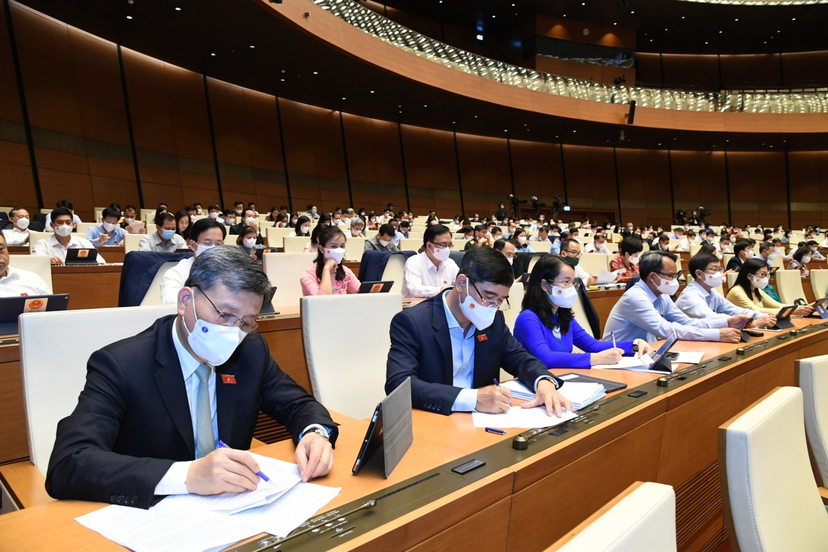 Các đại biểu tham dự kỳ họp thứ nhất Quốc hội khóa XV.