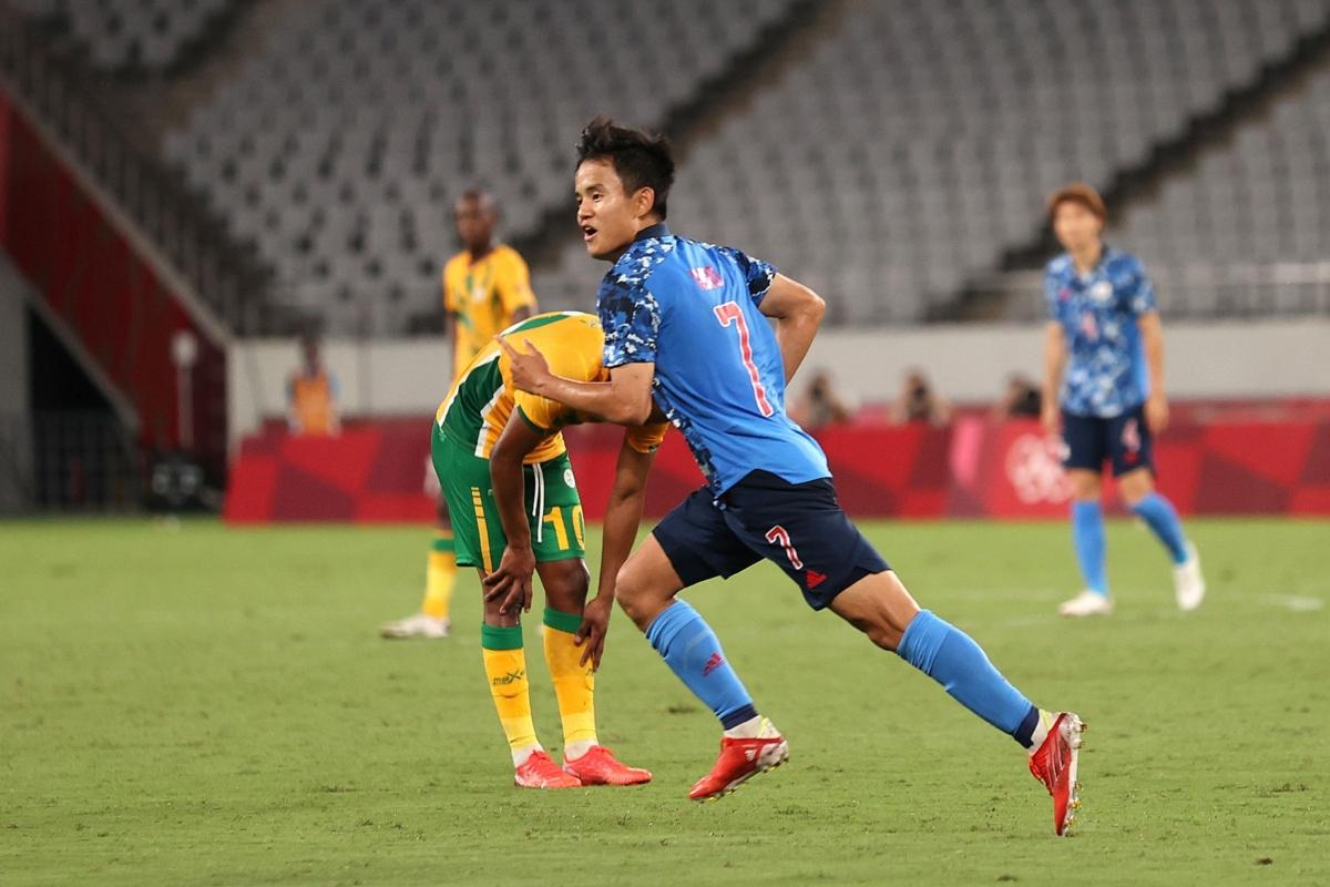 Takefusa Kubo toả sáng giúp Nhật Bản thắng Nam Phi trong trận ra quân Olympic Tokyo. (Ảnh: Getty)