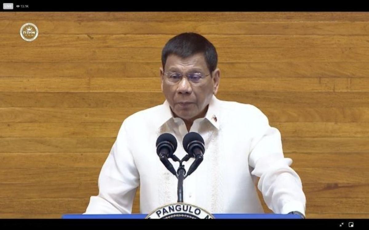 Tổng thống Duterte có bài diễn văn quốc gia cuối cùng trước khi rời nhiệm sở. Nguồn: Philstar
