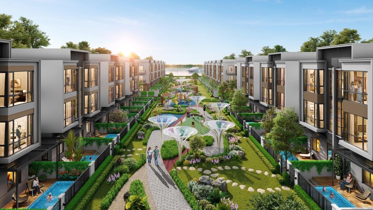 Mảng xanh len lỏi trong từng góc nhà cư dân đô thị đảo.