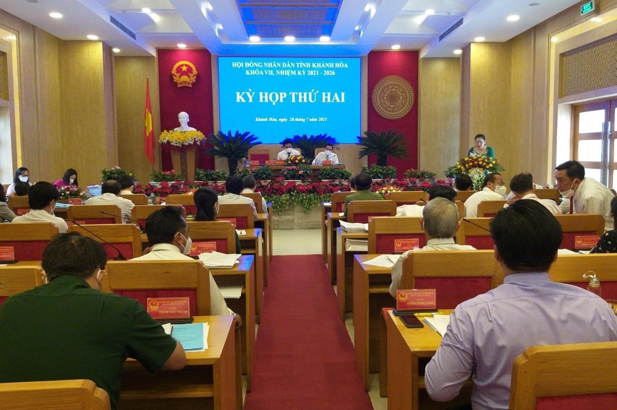 Quang cảnh kỳ họp HĐND tỉnh Khánh Hòa