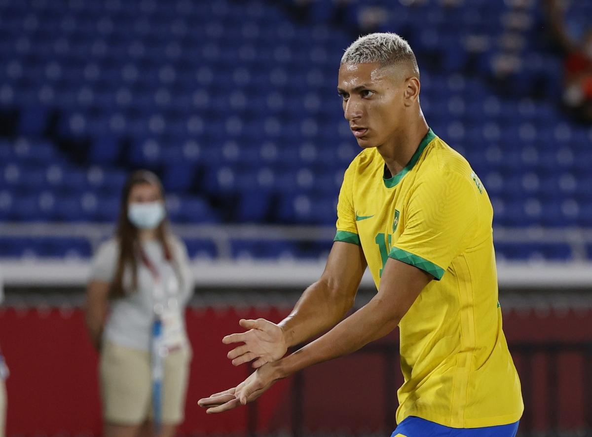 Richarlison là ngôi sao đáng chú ý nhất trên hàng công của Brazil khi anh đã ghi 5 bàn từ đầu giải. (Ảnh: Reuters).