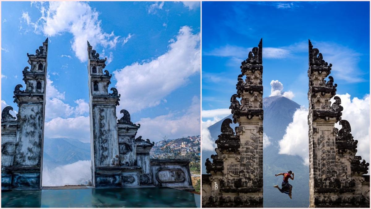 Một điểm check in tại Sa Pa (trái) khá giống với điểm du lịch tại Bali, Indonesia (phải). Nguồn: Facebook, indonesia.travel