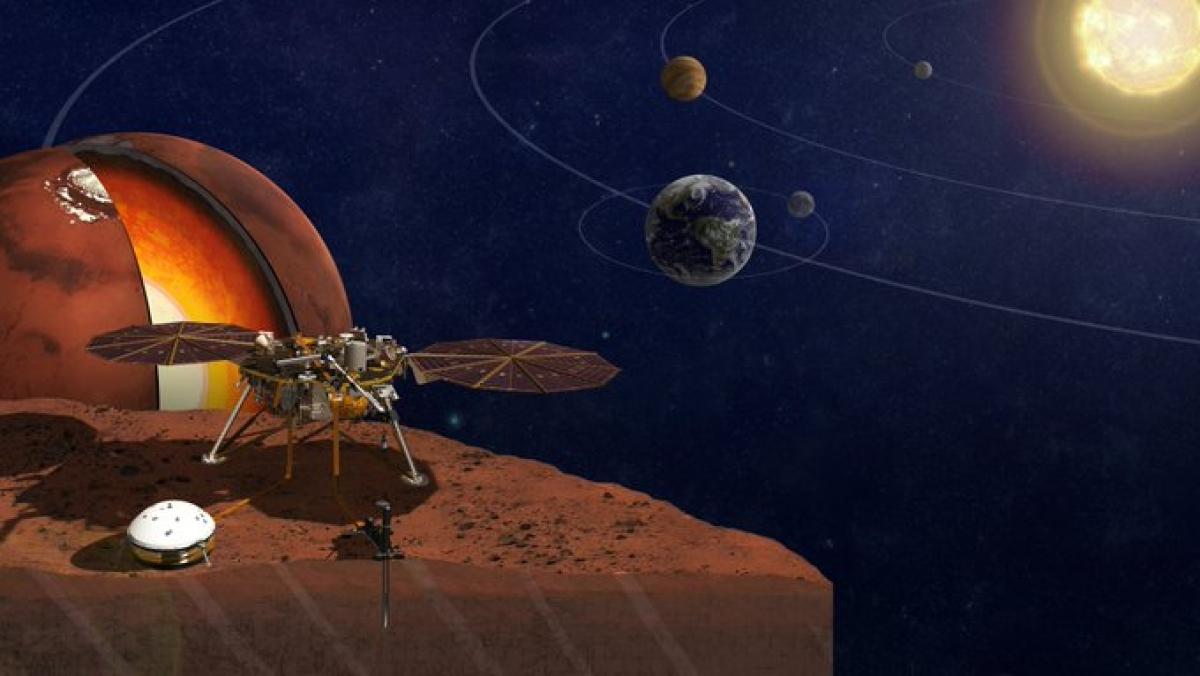 InSight chỉ mất 2 năm để tính toán được lõi sao Hỏa. Ảnh: NASA