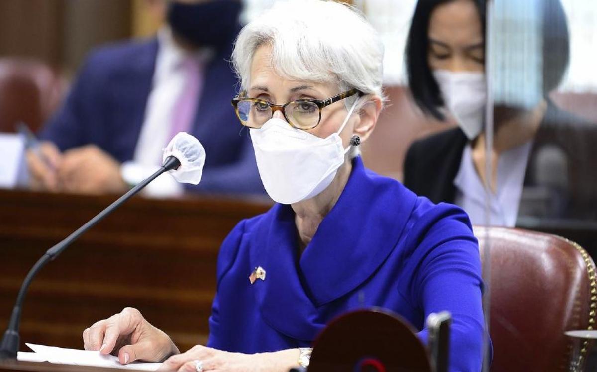 Thứ trưởng Ngoại giao Mỹ Wendy Sherman. Ảnh: AFP