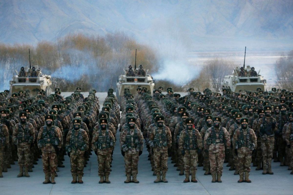 Trung Quốc có số lượng binh sỹ nhiều nhất thế giới. Ảnh: AFP