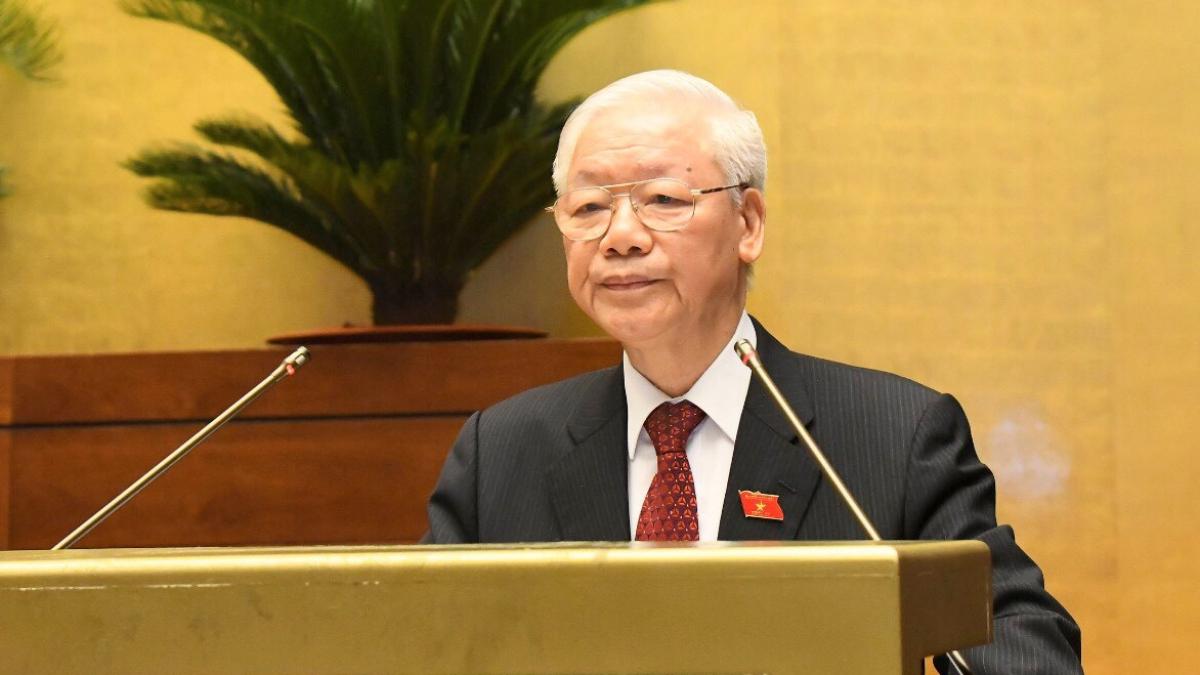 Tổng Bí thư Nguyễn Phú Trọng phát biểu tại phiên khai mạc kỳ họp thứ nhất Quốc hội khóa XV.