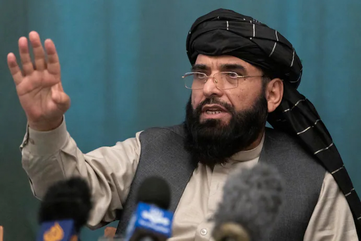 Phát ngôn viên của Taliban Suhail Shaheen. Ảnh: AP.