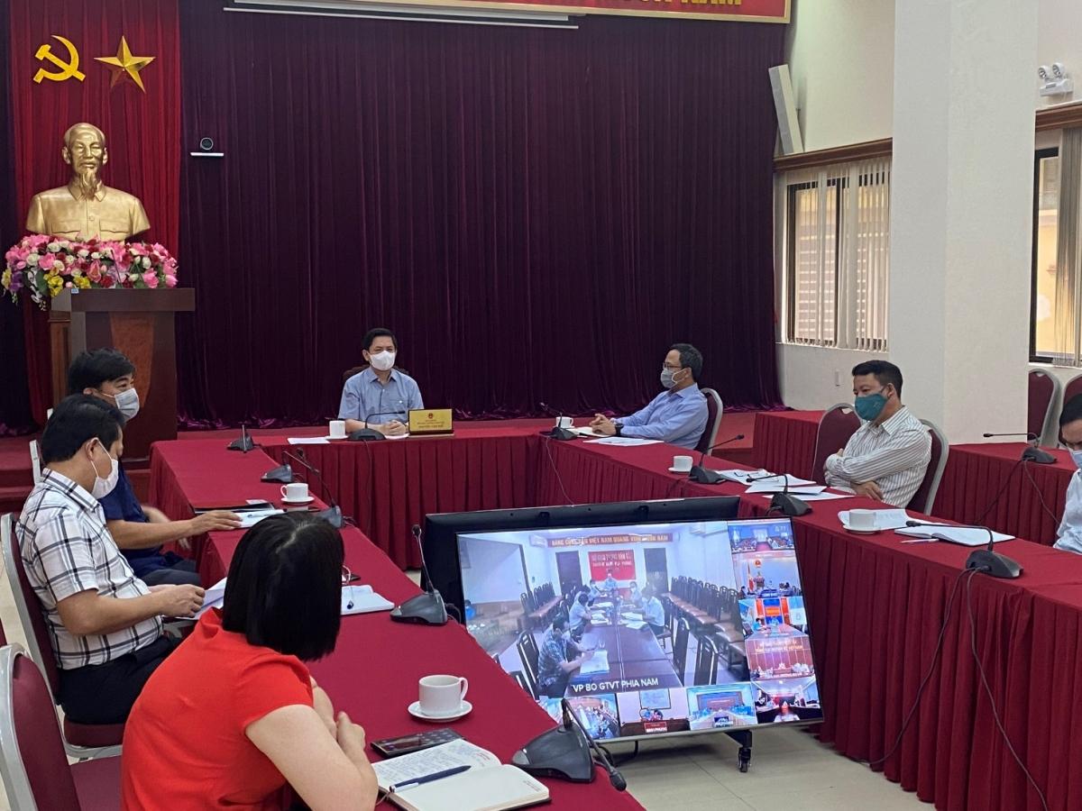 Hình ảnh buổi họp giao ban chiều ngày 23/7.