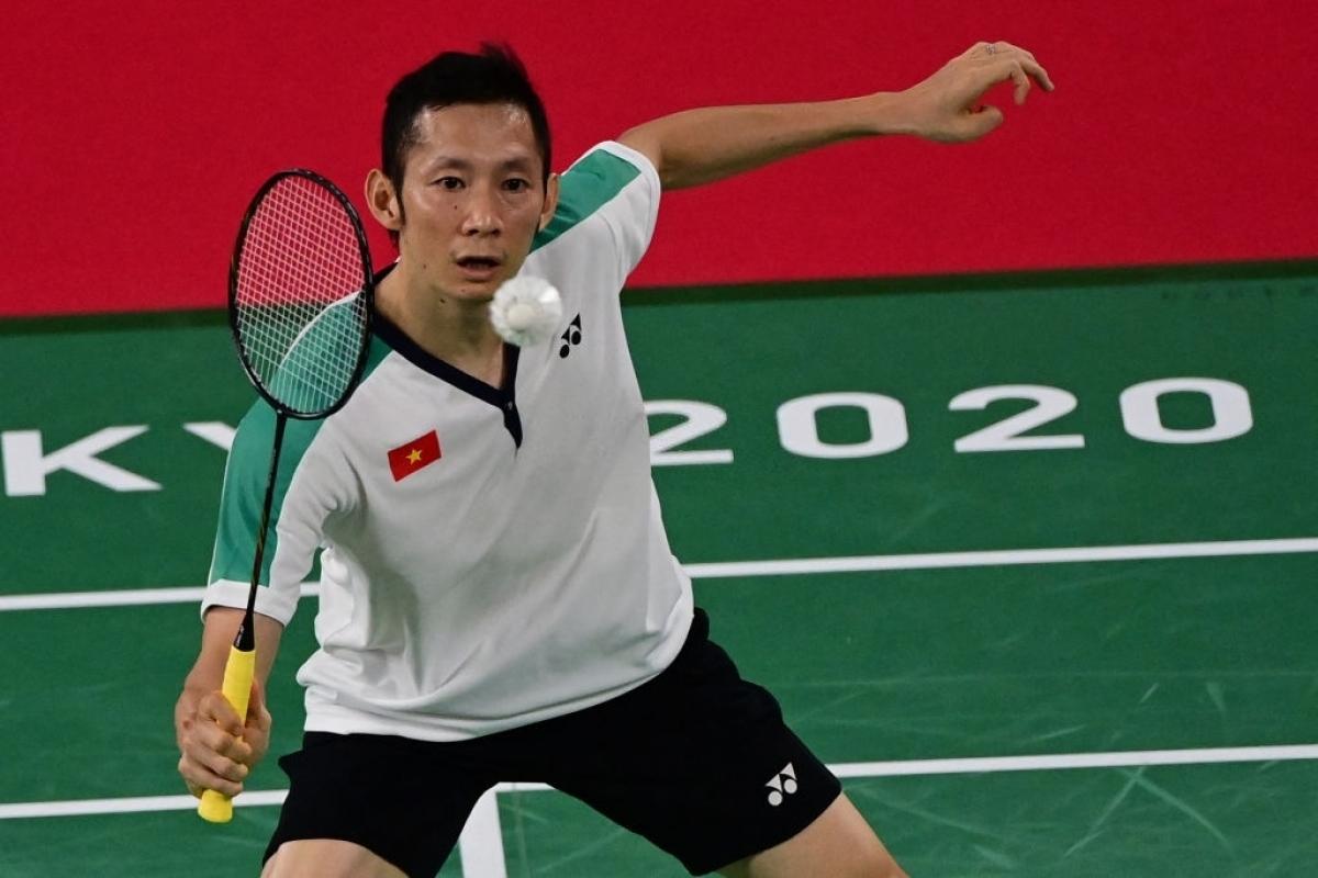 Nguyễn Tiến Minh thi đấu rất nỗ lực ở Olympic Tokyo 2020 (Ảnh: Getty).