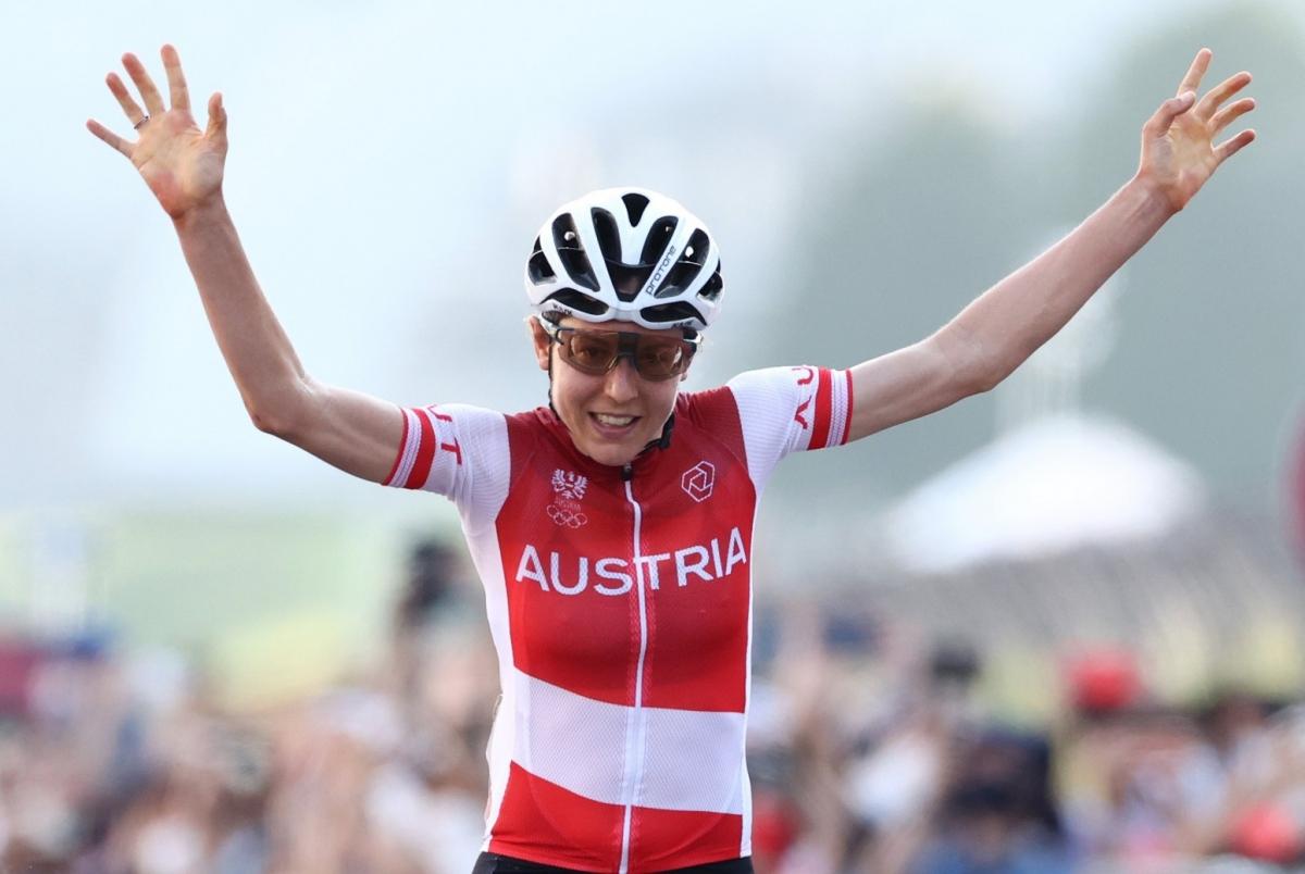 Anna Kiesenhofer lập nên kỳ tích ở Olympic Tokyo 2020. (Ảnh: Getty)