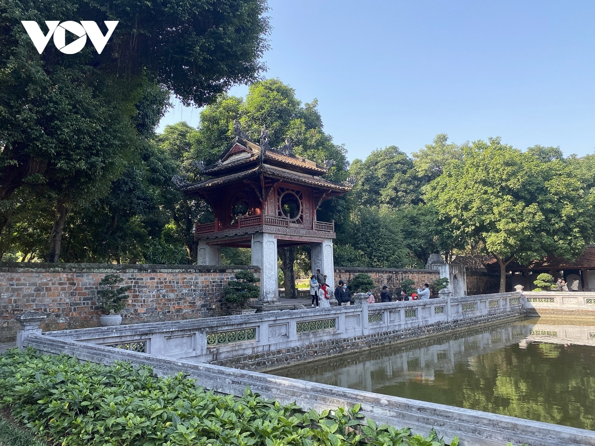 The noise, motorbike culture, people, history, and the cuisine of Hanoi are what makes it special for many foreign tourists. I the photo is Khue Van Cac, the Pavillion of Constellation of Literature, in the heart of Hanoi capital.