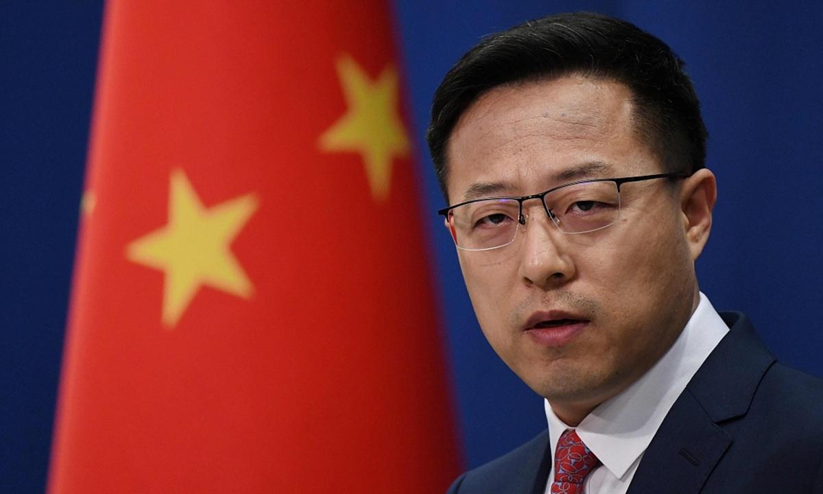 Người phát ngôn Bộ Ngoại giao Trung Quốc Triệu Lập Kiên. Ảnh: Global Times