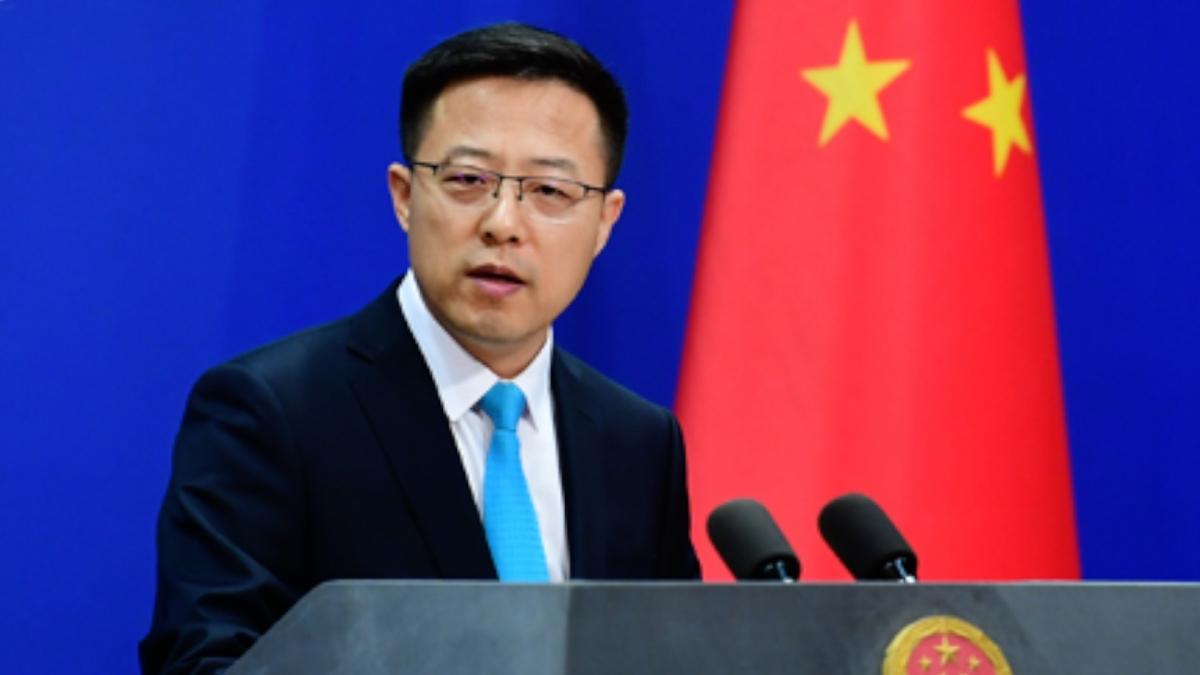 Người phát ngôn Bộ Ngoại giao Trung Quốc Triệu Lập Kiên. Ảnh: CGTN