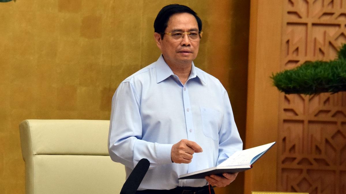 Thủ tướng Chính phủ Phạm Minh Chính đã chủ trì Hội nghị trực tuyến giữa Thường trực Chính phủ với 21 tỉnh, thành phố phía Nam và Nam Trung Bộ đang có dịch Covid-19 diễn biến phức tạp.