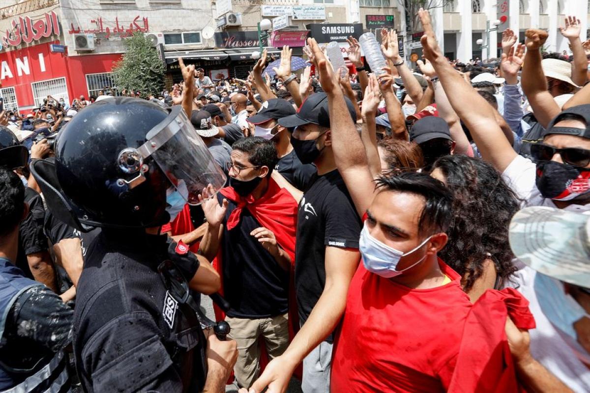 Khủng hoảng chính trị ở Tunisia. Ảnh: Reuters
