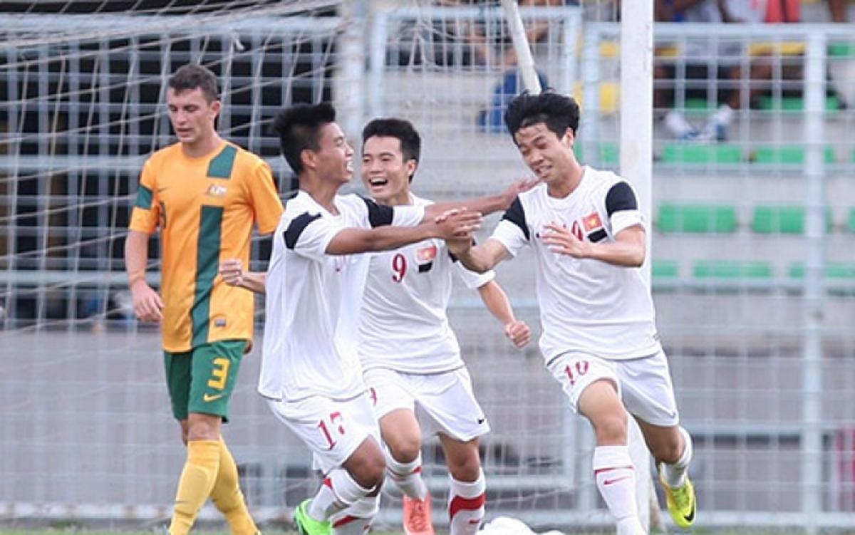 Công Phượng từng lập cú đúp giúp U19 Việt Nam thắng U19 Australia 5-1. (Ảnh: VFF)
