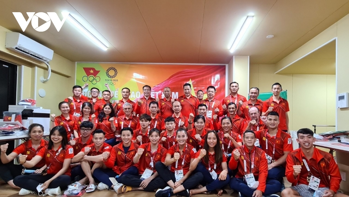 A day after arriving in Japan, members of the Vietnamese Olympics team begin training so they can put in the best performance possible at the upcoming games which are set to take place from July 23 to August 8.